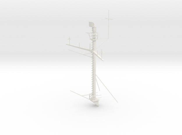 1/72 USN IOWA Class Main Mast in White Natural Versatile Plastic