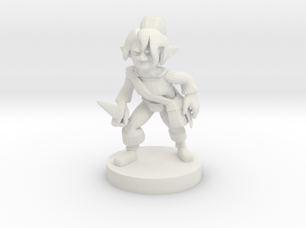 Gnome  Female  Rogue in White Strong & Flexible