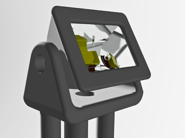 Adjustable small (0402) LED Floodlight, N/Z/HO x25 in Smooth Fine Detail Plastic