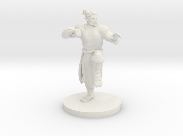Half Orc Male Monk in White Natural Versatile Plastic