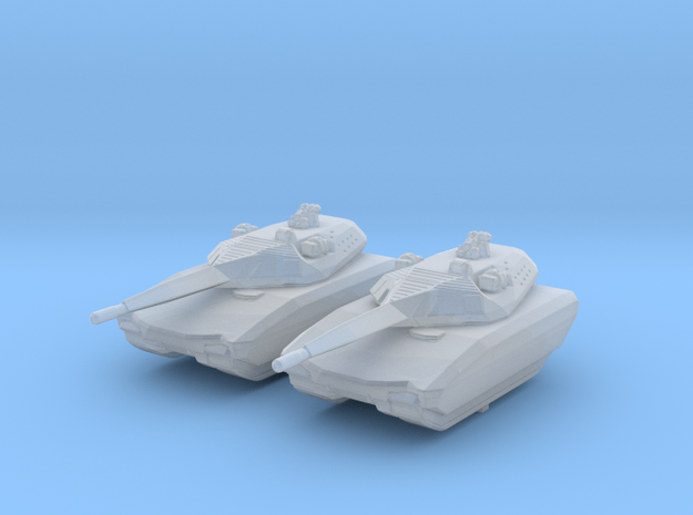 1/285 (6mm) Polish PL-01 Light Tank Prototype x2 in Smooth Fine Detail Plastic