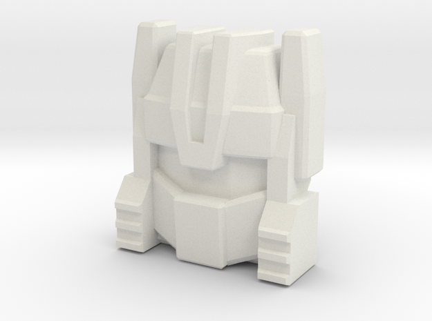 G1 Chase Face (Titans Return) in White Natural Versatile Plastic