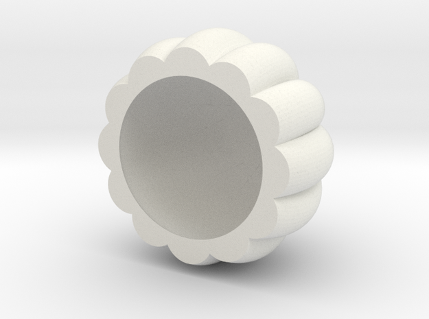 8 in White Natural Versatile Plastic: Extra Small