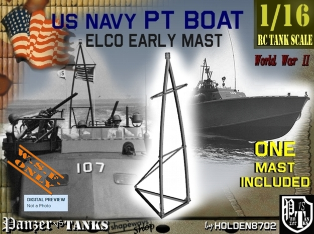 1-16 Elco PT Boat Early Mast