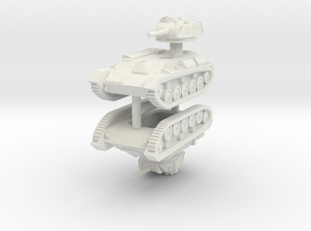 1/100 T-80 light tank (x2) in White Strong & Flexible
