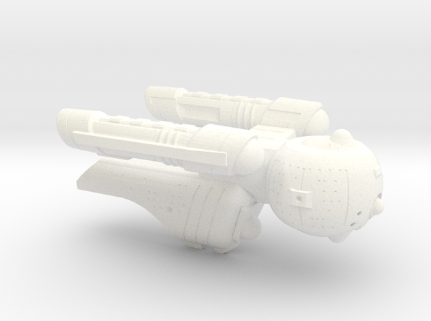 Terran(Early) Pegasus Light Cruiser - 1:7000 in White Strong & Flexible Polished