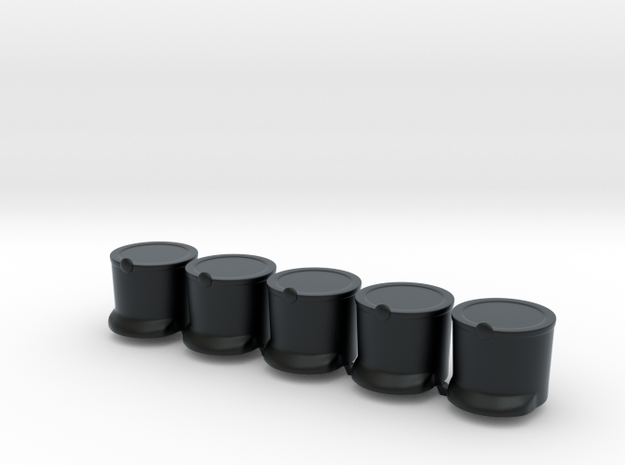 5 x French Shako T  in Black Hi-Def Acrylate