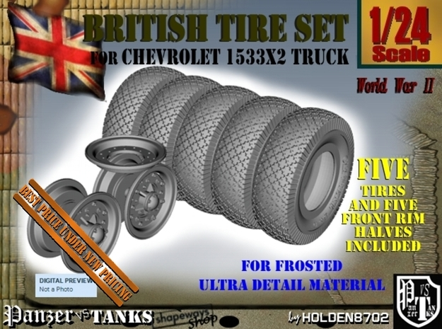 1-24 Chevy LRDG Tire And Rims FUD Set3