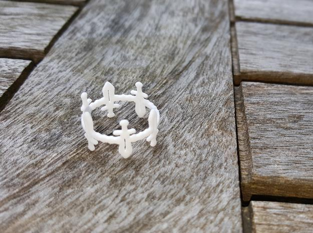 Sword Dance Ring in White Natural Versatile Plastic: 6 / 51.5