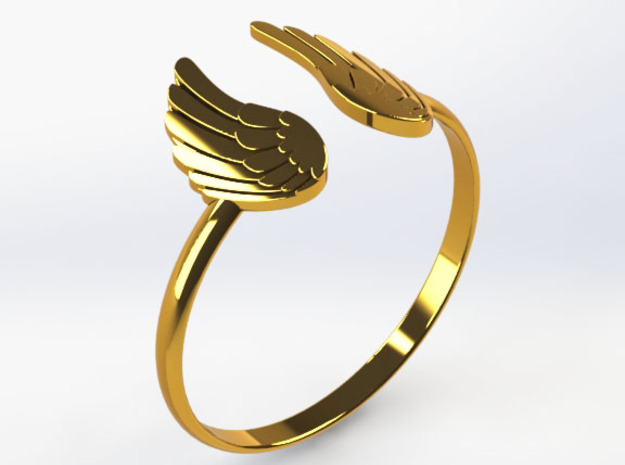 Winged Ring-SMK in 18k Gold