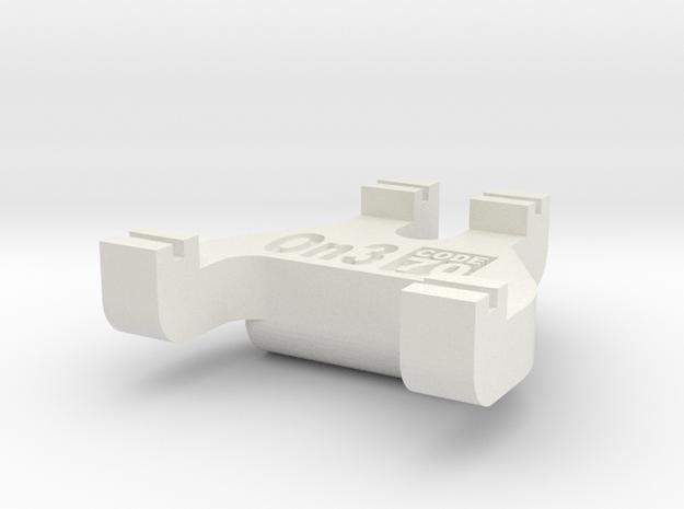 On3 Track Gauge - Code 70 in White Natural Versatile Plastic