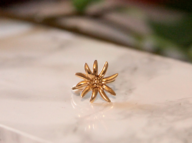 Edelweiss ring  in Rhodium Plated: 5 / 49