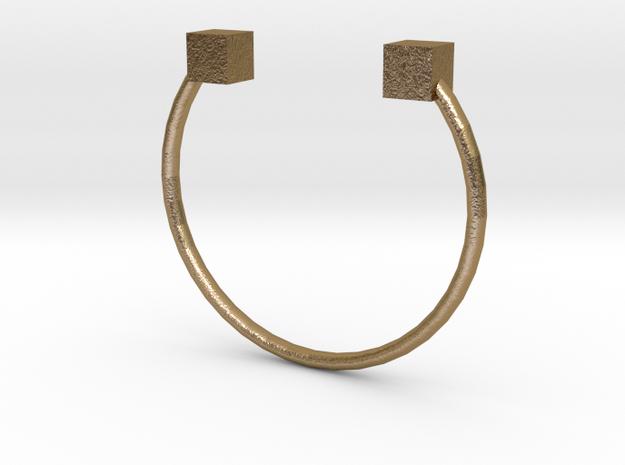Box Cuff XS in Polished Gold Steel