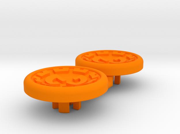 Dwemer spinner caps - Magnetic, Standard in Orange Processed Versatile Plastic