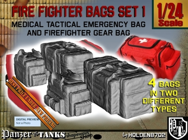 1-24 Med Tac Emerg And Firefight Gear Bag Set