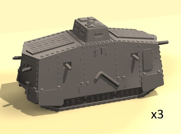 1/160 WW1 A7V tank in Smooth Fine Detail Plastic