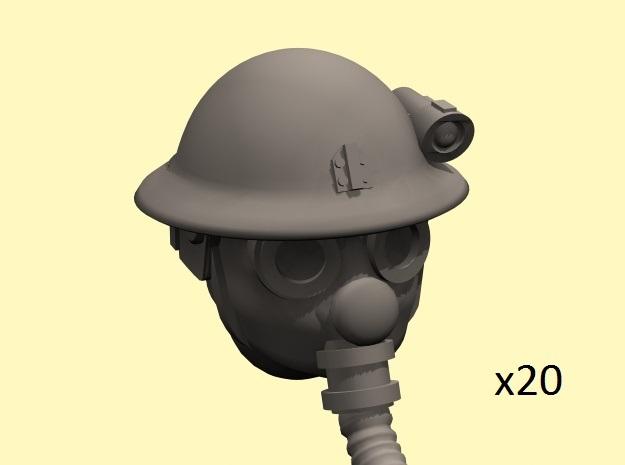 28mm Dieselpunk British heads
