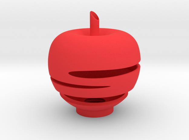 蘋果夜燈(燈罩) in Red Strong & Flexible Polished: Small