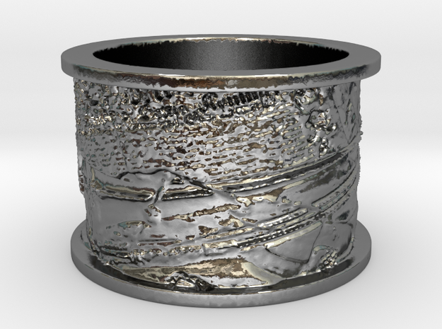 Trompe l'Oeil with Trumpet in Polished Silver: 1.5 / 40.5