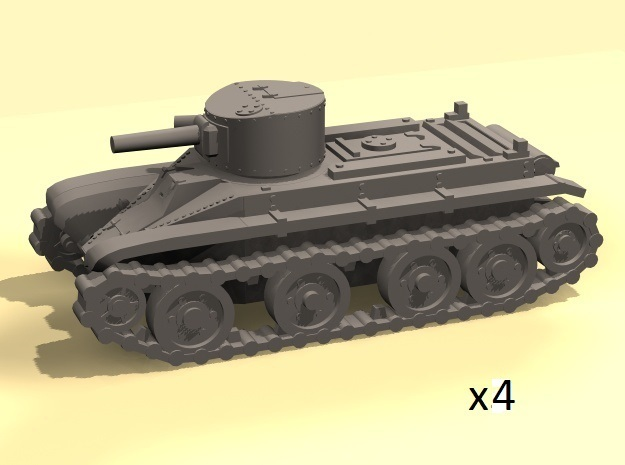 1/220 BT-2 tanks in Smooth Fine Detail Plastic