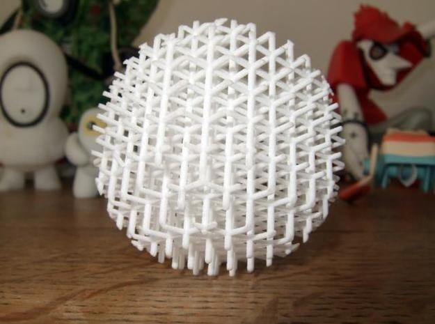 Mesh Acupuncture Ball in White Natural Versatile Plastic