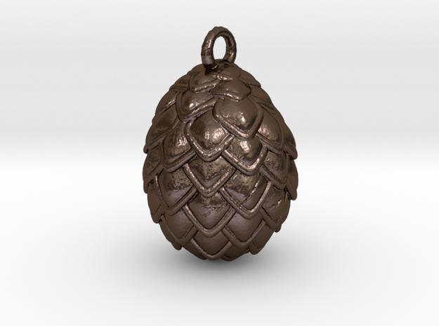 Dragon Egg Pendant in Polished Bronze Steel