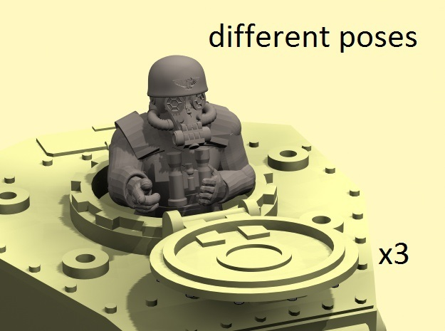28mm Metal Division tank commanders