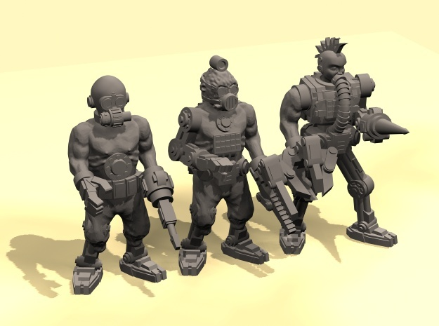 28mm Tech cult cyborgs