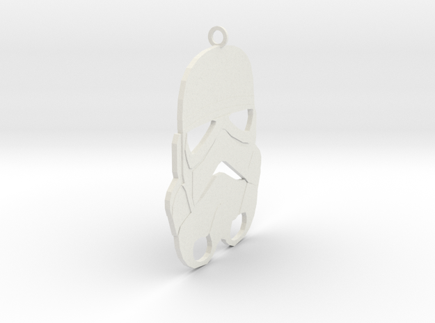Storm Trooper Pendant in White Strong & Flexible