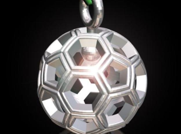 Soccer Ball Pendant /Keyring 3d printed Description