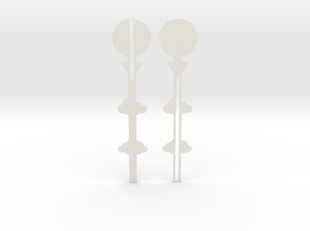 Cake Topper - Clouds & Balloon #2 in White Strong & Flexible