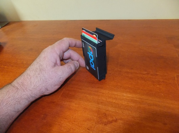 MECHANICAL WALLET 9 CARDS + CASH CLIP in Black Strong & Flexible