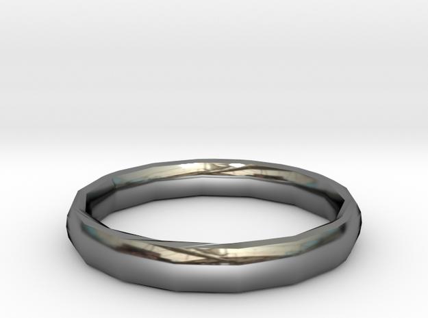 "Polygonal ring ""XXI century"" in Premium Silver: 7.5 / 55.5"