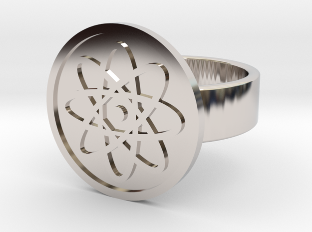 Atom Ring in Rhodium Plated: 10 / 61.5