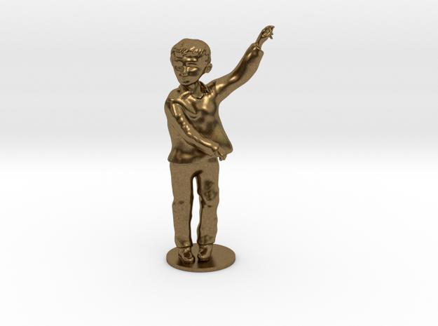 Flamenco boy in Raw Bronze