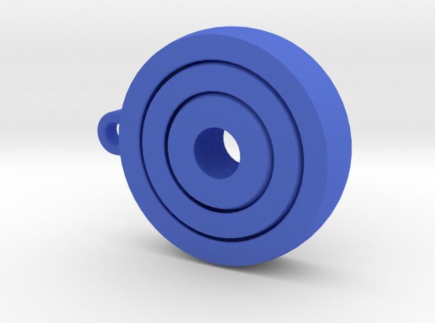 Gyroscopic KeyChain in Blue Processed Versatile Plastic