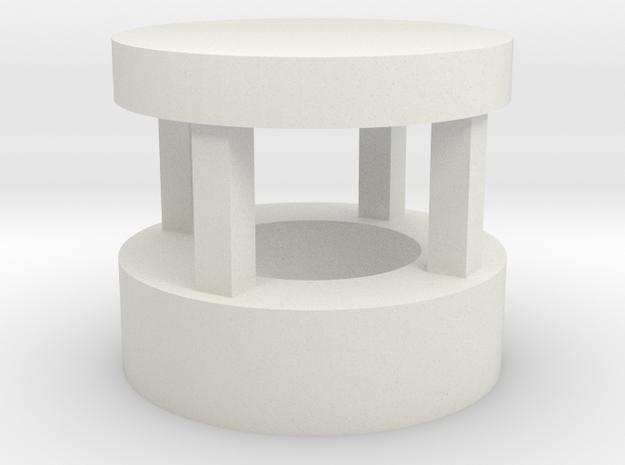 Lampholder - temple in White Strong & Flexible: Medium