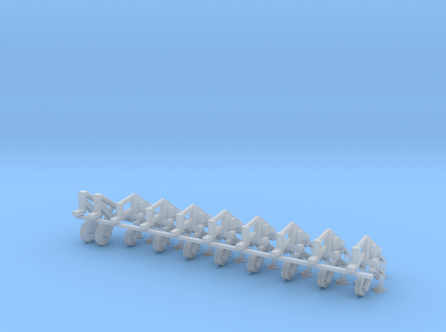 1/64 IH 183 8 Row Cultivator Row Units in Smooth Fine Detail Plastic