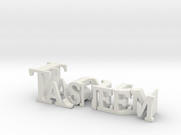 3dWordFlip: Tasneem/Fun in White Strong & Flexible