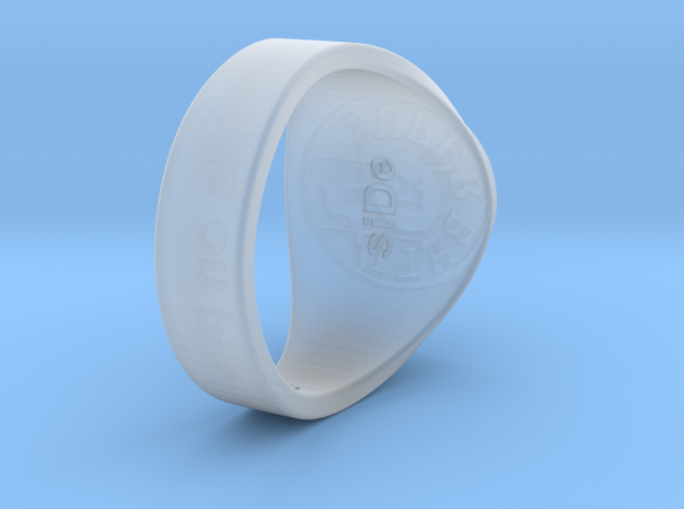 Superball siDe Ring in Smooth Fine Detail Plastic