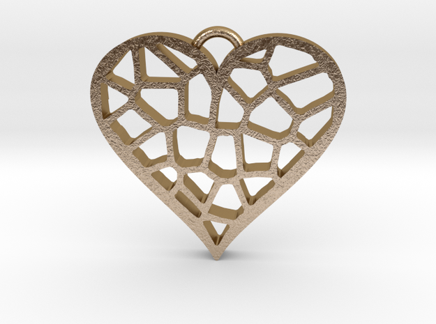 Heartcatcher Pendant in Polished Gold Steel