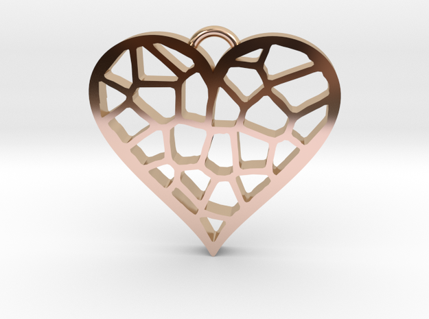 Heartcatcher Pendant in 14k Rose Gold Plated