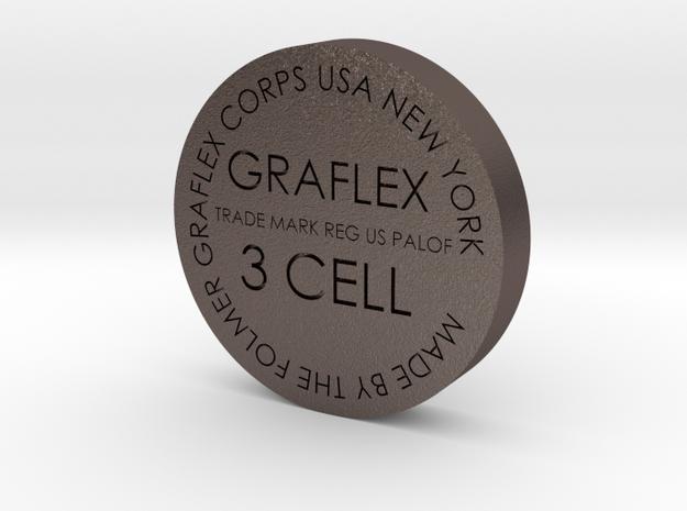 Graflex bottom 34mm in Polished Bronzed Silver Steel