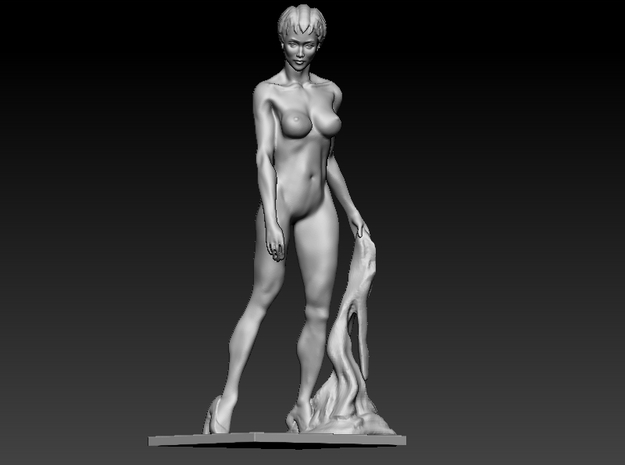 Nude woman pose
