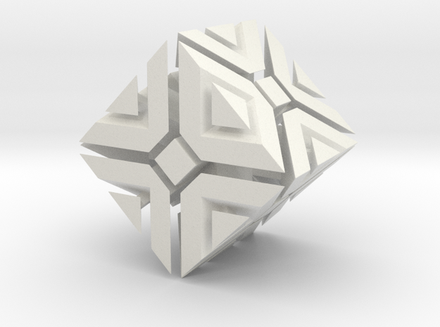 Fractal Cube in White Strong & Flexible