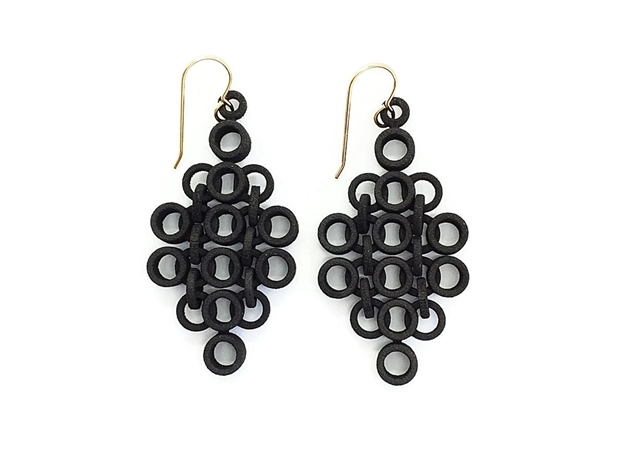 Geometric Statement Earrings in Black Strong & Flexible