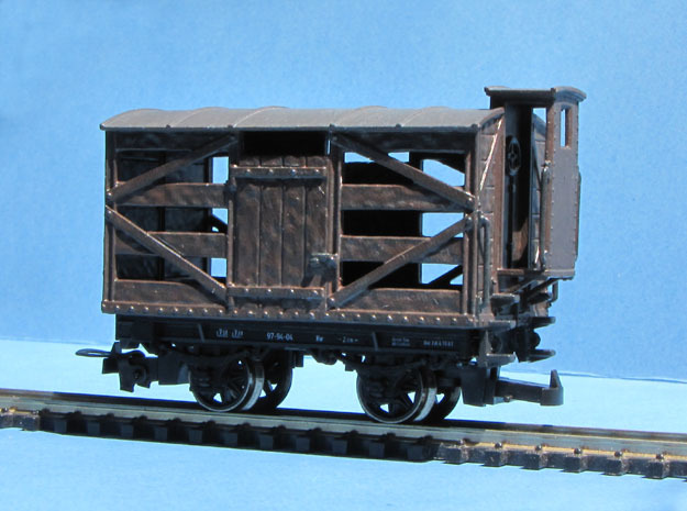 HOe-wagon05 - Openwork wagon crate in Smooth Fine Detail Plastic