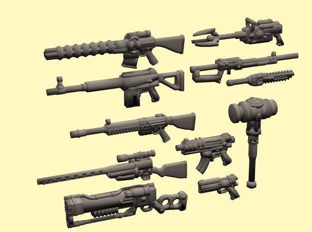 28mm Wastefall weapons 1