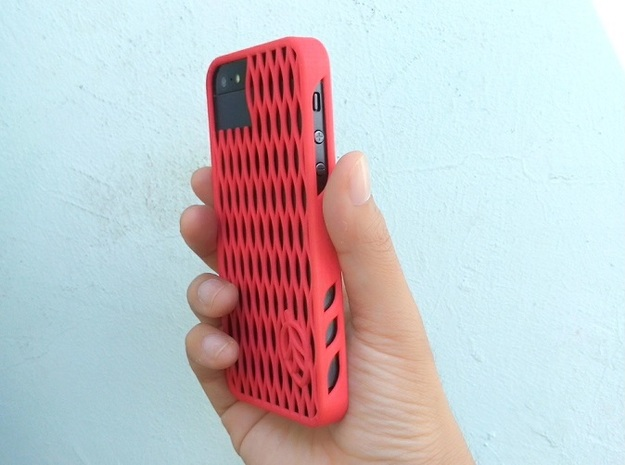 leaf case 3d printed Coral Red Strong & Flexible Polished
