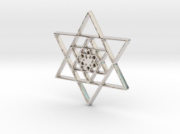 Infinite Jewish Symbol Pendant Charm in Rhodium Plated